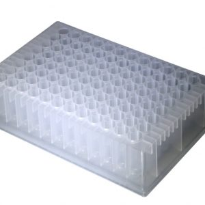 1.2ml 96-Well DW Plate CL, RD WellU-bottom, Non-Sterile 5/PK, 10pk/cs