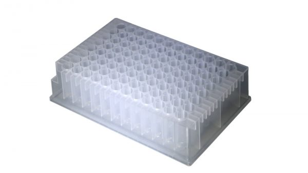 1.2ml 96-Well DW Plate CL, RD WellU-bottom, Non-Sterile 5/PK, 10pk/cs