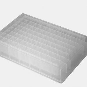 1.2ml 96-Well Deep-Well Plates, Clear, Square Well, V-bottom, 10/PK, 10PKS/CS