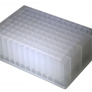 2.2ml 96-Well Deep-Well Plates, Clear, SQ Well, V-bottom, Sterile, 5/PK, 50/CS